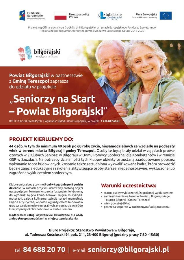 plakat seniorzy